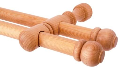karnisz drewniany